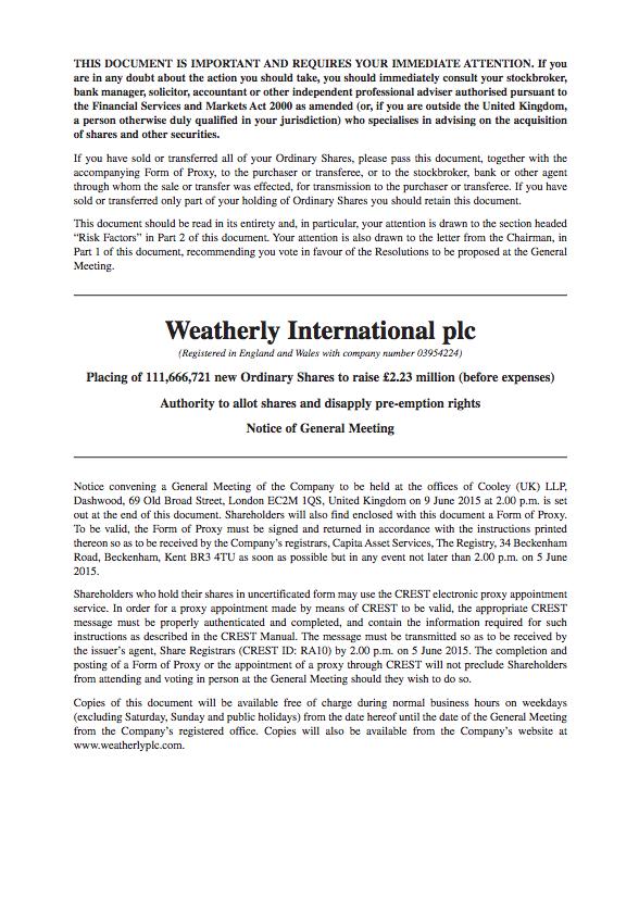 165476 Weatherly International – Circular (PFP)