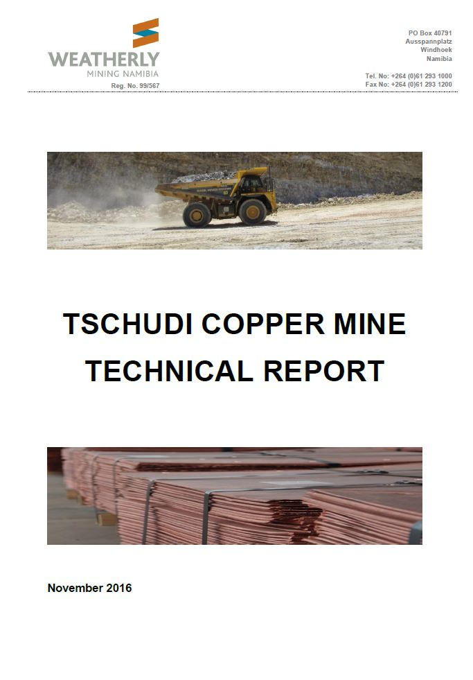 Tschudi Technical Report – November 2016